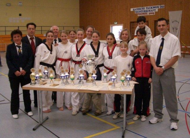 Der Taekwondo Verein Pfinztal – Badischer Formenmeister 2005