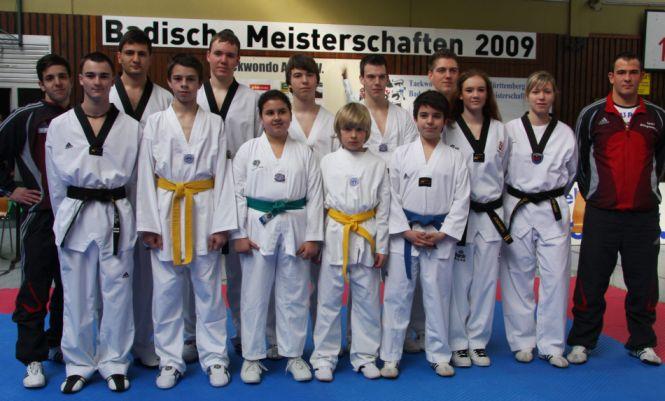 Der Taekwondo Verein Pfinztal erntet Früchte bei den Badischen Meisterschaften 2009 in Gengenbach