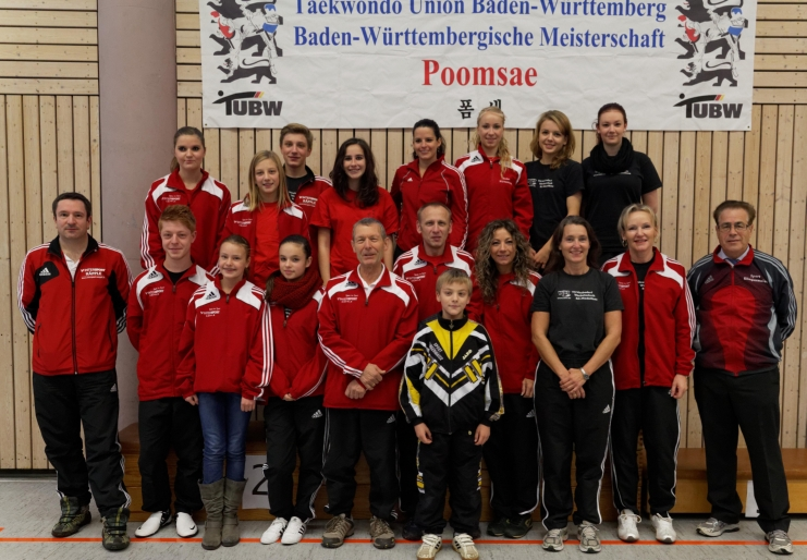 Der Taekwondo Verein Pfinztal ist Baden-Württembergischer Mannschaftsmeister 2012