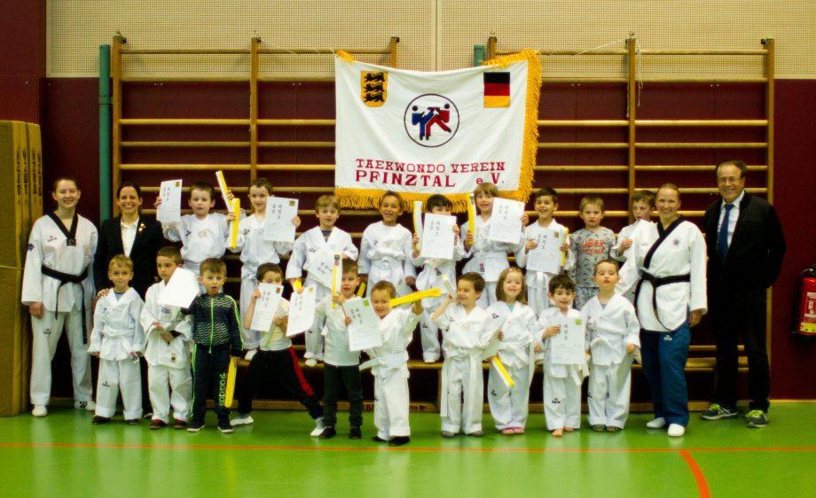 Bambinitraining des Taekwondo Verein Pfinztal ein voller Erfolg!